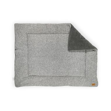 Jollein, mata podłogowa / narzuta na łóżeczko Szara melanżowa  80 x 100 cm