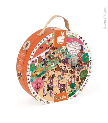 Janod, puzzle obserwacyjne w walizce Stadnina,