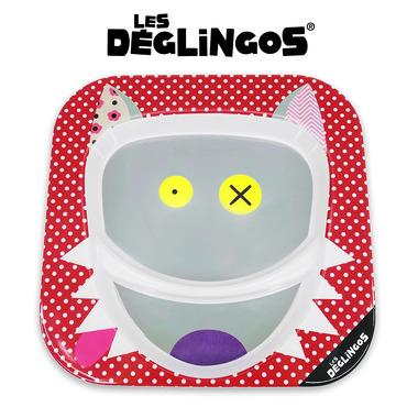 Les Deglingos, talerz z melaminy Wilk Bigbos