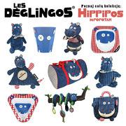 Les Deglingos, talerz z melaminy Hipopotam Hippipios
