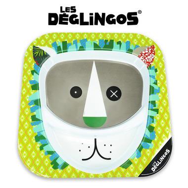 Les Deglingos, talerz z melaminy Lew Jelekros