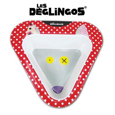 Les Deglingos, miseczka z melaminy Wilk Bigbos
