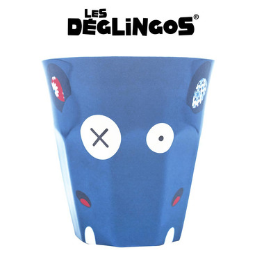 Les Deglingos, kubek z melaminy Hipopotam Hippipios