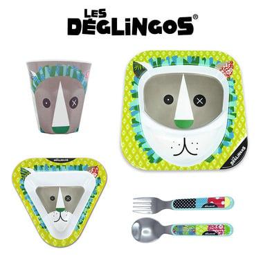 Les Deglingos, zestaw z melaminy Lew Jelekros