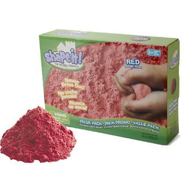 Kinetic Sand, sHAPE IT! Piaskolina 2270g czerwona