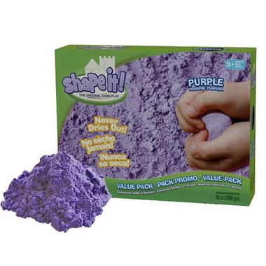 Kinetic Sand, sHAPE IT! Piaskolina 2270g fioletowa