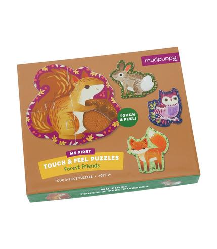 Puzzle sensoryczne - Leśne zwierzęta