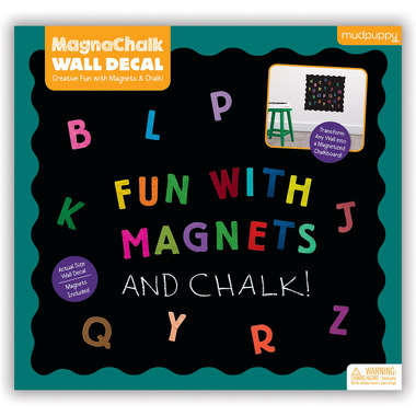 Mudpuppy, magnetyczna tablica kredowa z magnesami Literki ABC