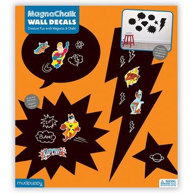 Mudpuppy, magnetyczne tablice kredowe z magnesami Superbohater
