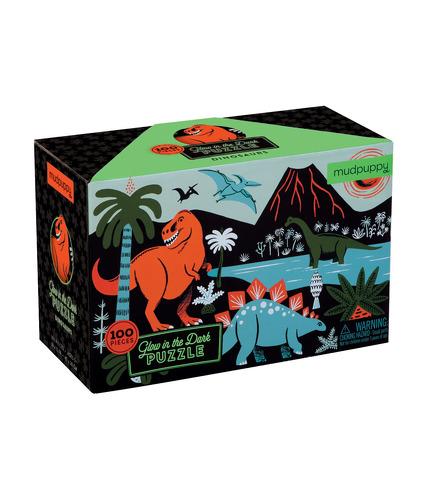 Mudpuppy, puzzle świecące w ciemności - Dinozaury