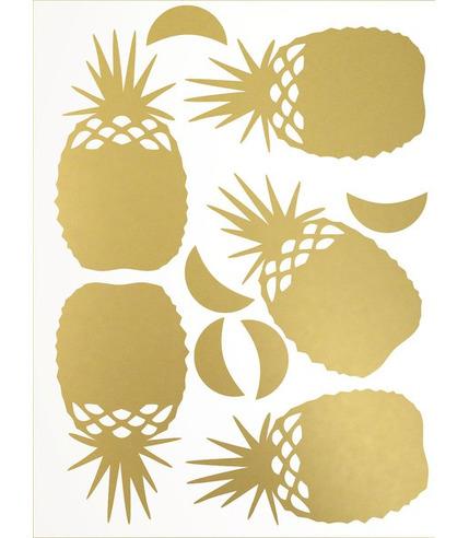 Naklejki ścienne złote ananasy