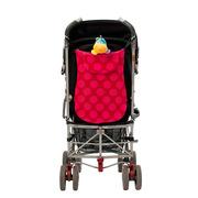 Torba na wózek z neoprenu (różowa w kropki)