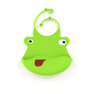 Śliniak z silikonu (zielona żaba)