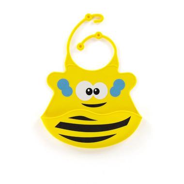 Śliniak z silikonu (żółta pszczoła)
