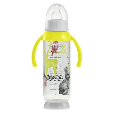 Beaba, butelka antykolkowa z uchwytem 330ml Bunny yellow