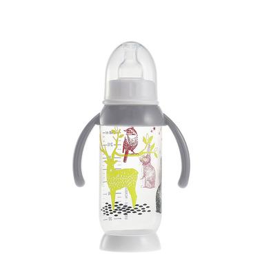 Beaba, butelka antykolkowa z uchwytem 240ml Bunny grey