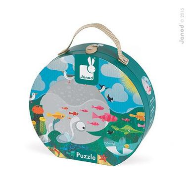 Janod, puzzle w walizce Ocean