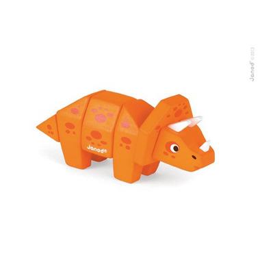 Janod, triceratops drewniany do złożenia