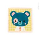Janod, klocki drewniane Puzzle 6w1 Las