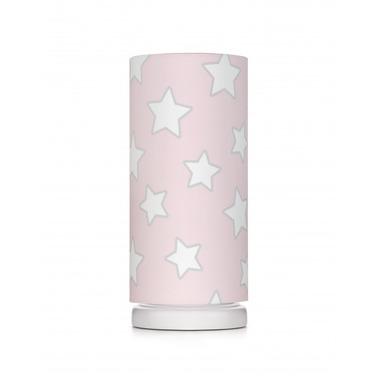 LAMPKA NOCNA PINK STARS  (ze ściemniaczem)
