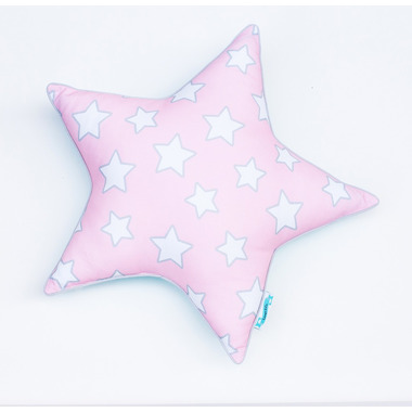 PODUSZKA OZDOBNA PINK & MINT STARS 'STAR'
