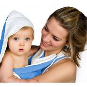 Ręcznik w formie fartucha Cuddledry Baby niebieski