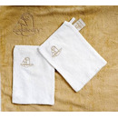 Ręcznik w formie fartucha Cuddledry Baby krowie łatki