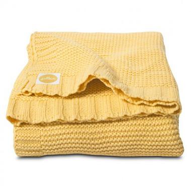 Jollein, koc tkany Funky Chunky Żółty