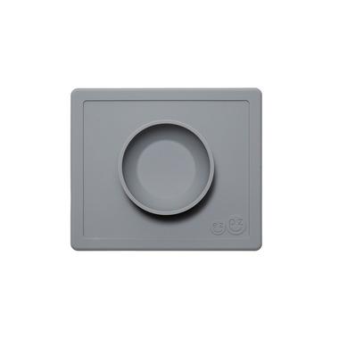 EZPZ, silikonowa miseczka z podkładką 2w1 Happy Bowl szara
