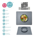 Silikonowa miseczka z podkładką 2w1 EZPZ  Happy Bowl szara