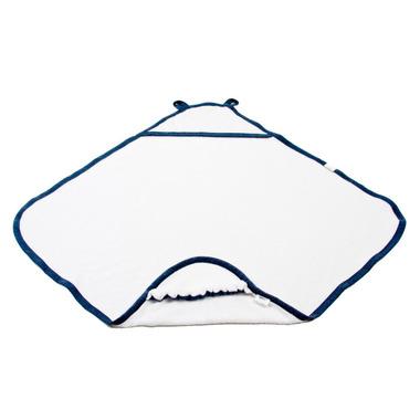 Poofi, Ręcznik z kapturkiem biało-granatowy