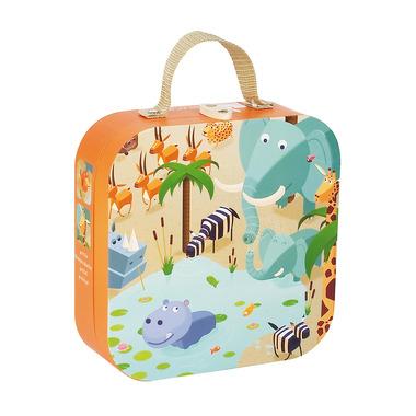Janod, puzzle dżungla w walizce