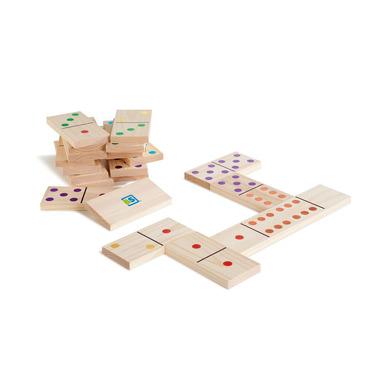 Domino drewniane XL kolorowe