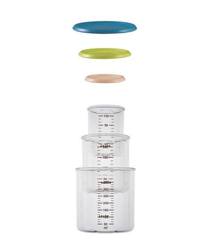 Beaba, zestaw słoiczków 3 szt. 120 ml, 240 ml oraz 420 ml