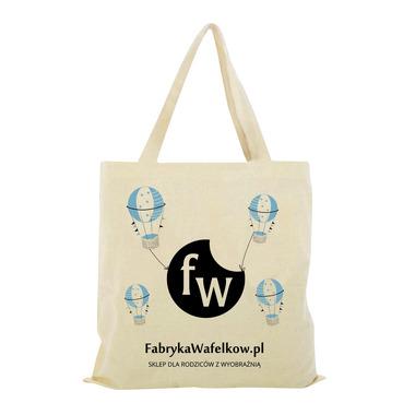 Torba Bawełniana Fabryka Wafelków - Niebieskie Baloniki Wzór 2