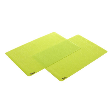 Silikonowe maty na stół MATTIES ZoLi 2 szt. zielone
