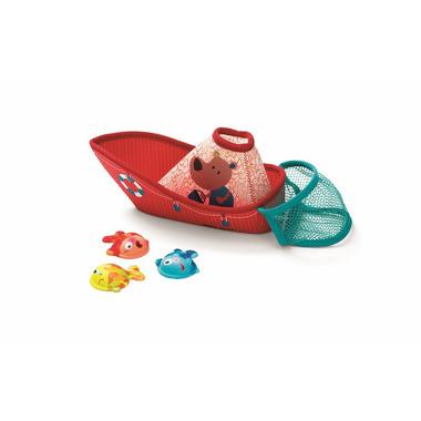 Lilliputiens, zabawki do wody Łódka z neoprenu z rybkami
