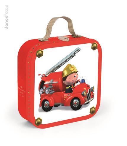 Janod, puzzle 4w1 Wóz strażacki Jacka