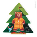 Janod, układanka drewniana Miś w pidżamie