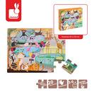 Janod, puzzle sensoryczne 20 elementów Wycieczka do zoo
