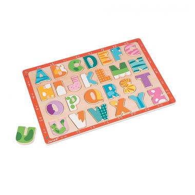 Janod, puzzle drewniane Kolorowy alfabet