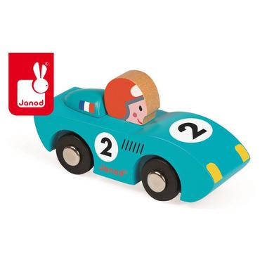 Janod, wyścigówka drewniana Speed niebieska