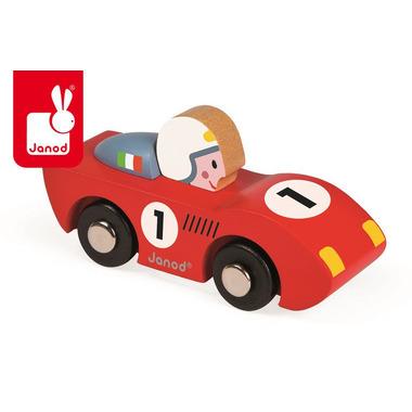 Janod, wyścigówka drewniana Speed czerwona