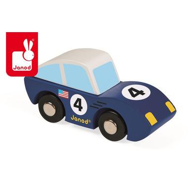 Janod, wyścigówka drewniana Roadster niebieska