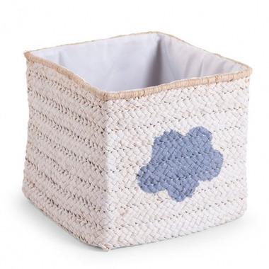 Pudełko plecione 30x33x33 star&cloud biały