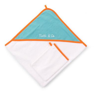 Ręcznik z kapturkiem 80x80 jersey pool blue