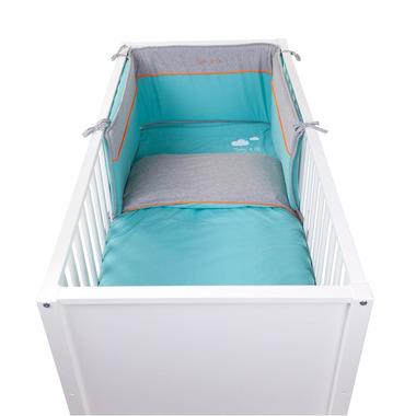 Ochraniacz do łóżeczka 35x180 jersey pool blue