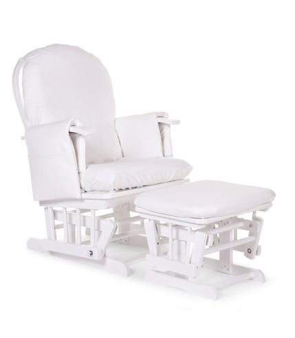 Childhome, Fotel pływający kwadratowy z podnóżkiem naturalny