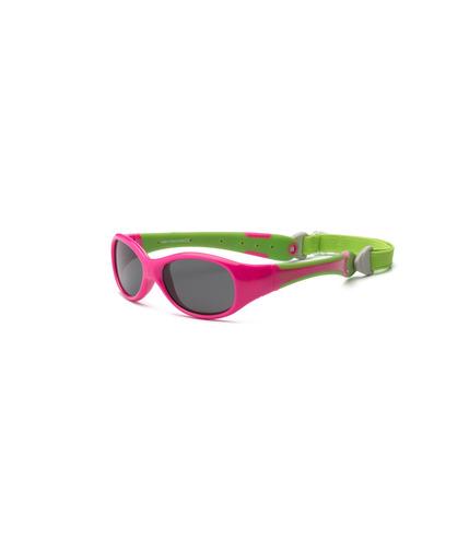 Okulary przeciwsłoneczne Explorer - Cherry Pink and Lime 0+