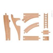 Janod, straż pożarna kolejka drewniana zestaw 52 części